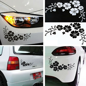 2pcs Flower Vinyl Auto Car Body Graphics Window Sticker Decal Decor