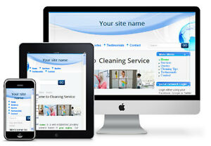 Home office Cleaning Service Website Mobile Friendly Free Install