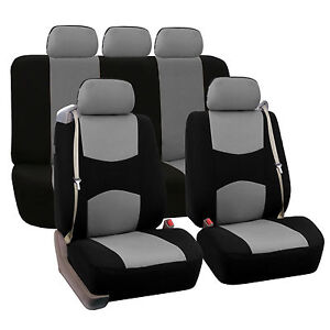 Car Seat Covers For Integrated Seat Belts Built in Seat Belt Gray Black