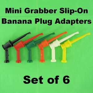 Pomona Test Clip Adapter Banana Jack To Mini Grabber Accepts 4mm Unsheathed Plug