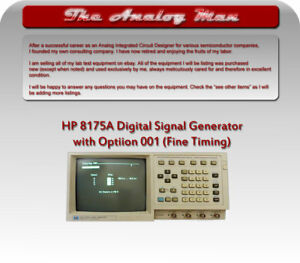 Hp 8175a Digital Signal Generator W gpib And Option 001 fine Timing
