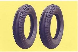 Two 4 00 12 Allis Chalmers g Original Firestone Front Tractor Tires Tubes