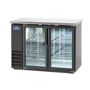 Arctic Air Abb48g 48 6 pk Can Capacity Back Bar Refrigerator Glass Door