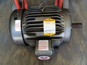 Baldor 7 5 Hp Motor 3 Phase Heavy Duty Industrial Manufacture Work Shop Business