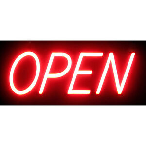 Optiva 20 Ultra Bright Led Open Sign Illuminated Business Storefront Signage