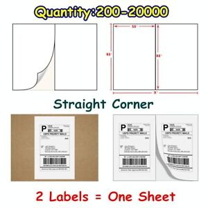 200 20000 Quality 8 5x5 5 Shipping Postage Labels Half Sheet Self Adhesive Usps
