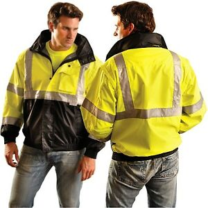 Occunomix Lux tjbj b High Visibility Bomber Jacket Ansi Class 3 Black Bot
