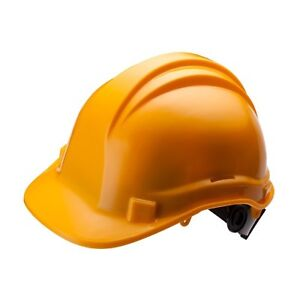 Safety Helmet Hard Hat 6 Point Ratchet Suspension Construction Work Yellow White