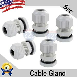 5 Pcs Pg11 White Nylon Waterproof Cable Connect Cord Grip Cable Gland 5 10mm