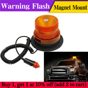 Fxc 12v Led Car Bus Beacon Strobe Emergency Warning Alarm Flash Light Amber Lamp