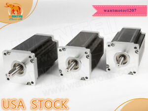 Wantai 3pc Nema42 Stepper Motor 110bygh201 001 8a 201mm 4200oz in Cnc Router