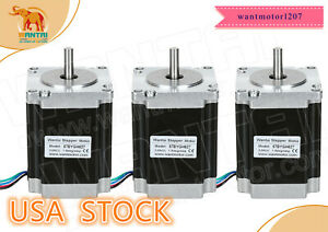 Us Ship Wantai Cnc 3pcs Nema23 Stepper Motor 270oz in 3a 57bygh627 Single Shaft