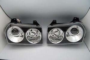 2005 2010 Chrysler 300 Touring Limited Projector Headlights Black