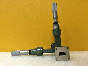 Fxr Microlab Y312c wr 62 12 4 To 18 Ghz Ku Band E h Waveguide Tuner