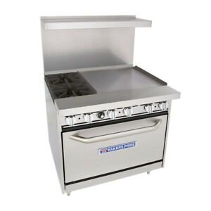 Bakers Pride 36 bp 2b g24 s30 Restaurant Series Gas Range W 24 Griddle