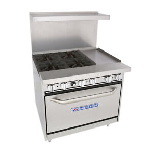 Bakers Pride 36 bp 4b g12 s30 Restaurant Series Gas Range W 12 Griddle