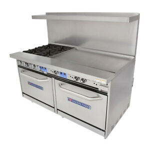 Bakers Pride 60 bp 4b g36 s26 60 Restaurant Series Gas Range W 36 Griddle