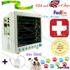 Fda Patient Monitor portable Veterinary Monitor Multiparameter co2 usa Fedex