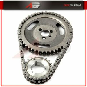 For Gm Sbc V8 Chevy 5 7l 305 327 350 383 Hd Double Roller Timing Chain Set