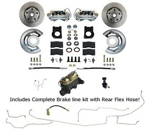 1964 65 66 Mustang Front Disc Brake Conversion Pre Bent Brake Line Kit