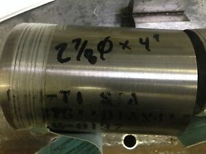 6al 4v Titanium Round Rod Bar 2 7 8 Dia X 4 0 Long