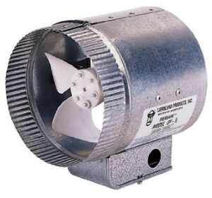 Tjernlund Ef 6 Duct Booster Fan 6in Hevac Home Or Business Buil