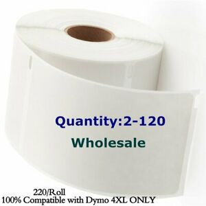 220 roll Dymo 4xl Direct Thermal Shipping Postage Labels 4x6 1744907 Compatible