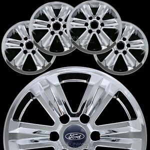4 Chrome 2015 2018 Ford F150 Xlt 17 Alloy Wheel Skins Full Rim Covers Hub Caps