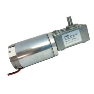 12 Volt 80rpm Electric Worm Geared Motor Bbq Robot Reversible Gearbox Motor