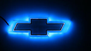 4d Blue Led Car Auto Tail Logo Light Badge Lamp Emblem 4 Chevrolet Cruze Epica