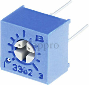 500pcs 50 Ohm 3362 Trimmer Trim Pot Potentiometer New