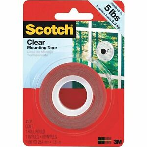 24 Pack 3m Scotch Clear Mounting Tape 1 X 60 Heavy Duty Double sided Tape
