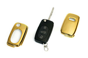 Early Audi Gold Remote Flip Key Cover Case Skin Shell Cap Fob Protection S Line