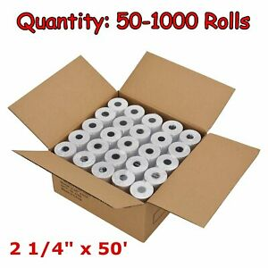 50 200 Rolls Case 2 1 4 X 50 Thermal Cash Register Pos Receipt Paper Free Ship