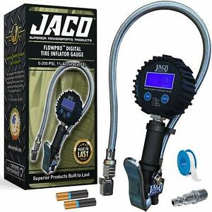 Jaco Flowpro Digital Tire Inflator Gauge 200 Psi