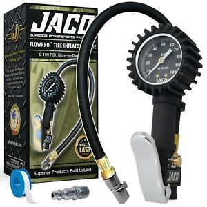 Jaco Flowpro Tire Inflator With Pressure Gauge 100 Psi