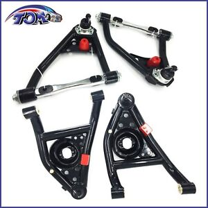 67 69 Camaro Firebird 68 74 Nova Tubular Upper Lower Control Arms Set Gm A Body