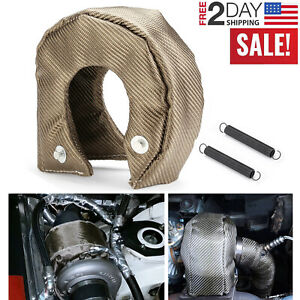 Titanium T3 Lava Fiber Turbo Blanket Heat Shield Barrier Turbocharger Cover Wrap