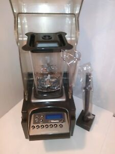 Vitamix Advance Touch N Go Blending Station W new 50oz Container Hood tamper