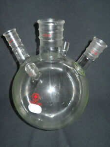 Ace Glass 3000ml 5 neck Round Bottom Flask 45 50 24 40 Joints 11 Ace thred