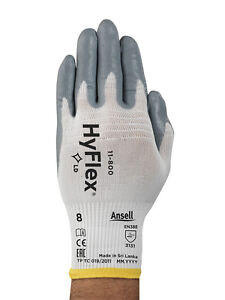 Ansell 11 800 Hyflex Nitrile Palm Coated Gloves Size 8 med 12 Pr 1 Dz Free Ship