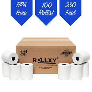 100 Rolls 3 1 8 X 230 Bpa Free Thermal Paper verifone Ruby Supersystem
