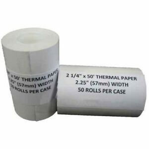 2 1 4 X 50 Thermal Paper 100 Rolls Verifone Vx570