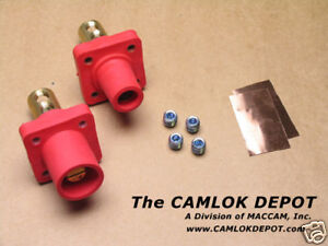 Camlok 2 4 0 Male Female Red Panel Mount Pair Kit