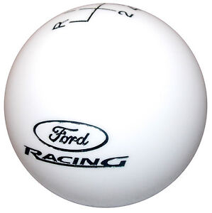 Ford Racing L 6 Speed White Shift Knob Hurst Mustang Boss 302 5 0 Gt