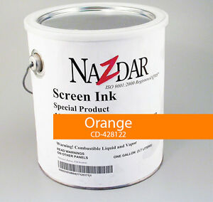 Nazdar Graphic Screenprint Silkscreening Ink orange