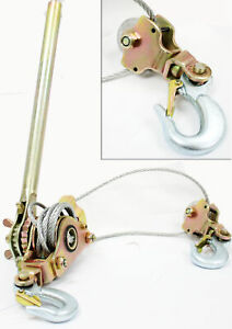 Hd 4400lb 2 Ton Hoist Ratchet Hand Lever Puller Come Along Double Hooks Cable