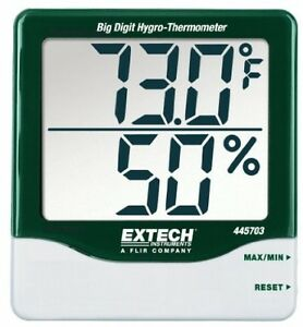 Big Digit Hygro thermometer With Min max Wall Mount Desk Top Humidity Measure