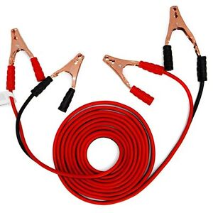 20 Ft 4 Gauge Battery Booster Cable Jumping Cables Power Jumper Heavy Duty Hot V