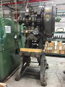 38 Ton Walsh Punch Press With Air Clutch Used